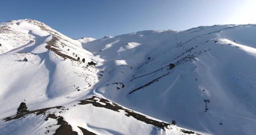 Ski Centre and Peak of Mountain Footage