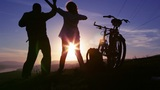 Dance, Sunset silhouette Footage