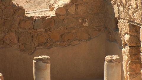 Masada fortress Stock Video Footage