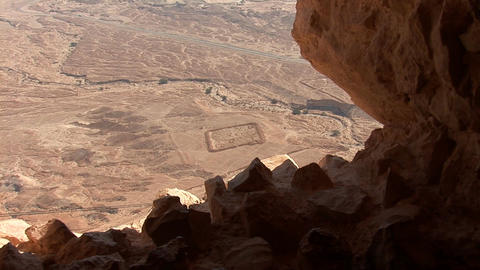 view from Masada r Stock Video Footage