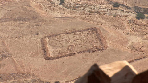view from Masada r Footage
