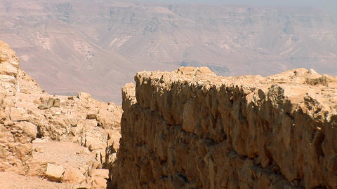 masada walls b Stock Video Footage