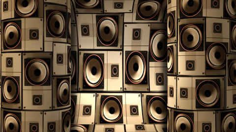 Speaker Wall Cylinder 01 Stock Video Footage