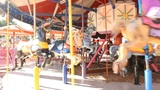 amusement park holiday merry coaster swing circus train wheel joy fun family Footage