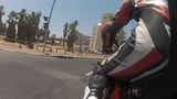 Motorbike Motorcycle Tel Aviv City Rider Riding Biker Driver Drive Driving stock footage