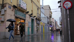 Busy street after the rain. Timelapse with impressionism... Stock Video Footage