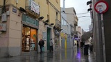 Busy Street After The Rain. Timelapse With Impressionism Mood. stock footage