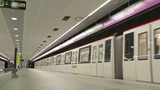 Time lapse subway and passengers Footage