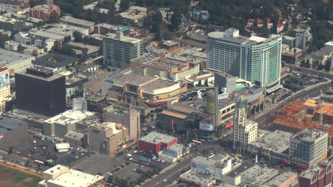 Aerial, Hollywood, California 01 Footage