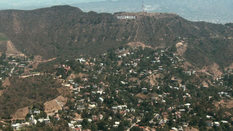 Aerial, Hollywood Sign 02 Stock Video Footage