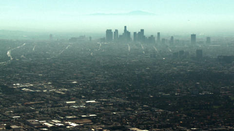 Aerial, Downtown Los Angeles, California Stock Video Footage