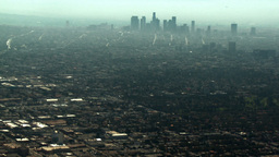Aerial, Downtown Los Angeles, California Footage