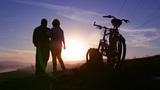 Love, Sunset silhouette Footage