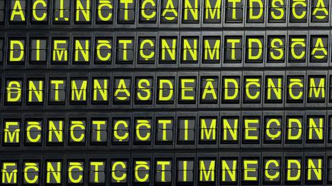 departure board end Stock Video Footage