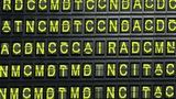 Departure Board End stock footage