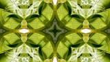 kaleidoscope pattern of rice dumplings of glutinous rice,dumplings leaf Animation