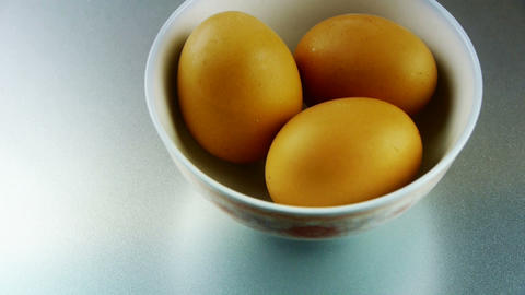 eggs in a bowl Stock Video Footage