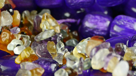 gorgeous gemstones jewelry Stock Video Footage
