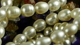 pearl necklace,gorgeous gemstones jewelry Footage