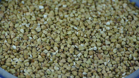 many buckwheat,grain food Stock Video Footage