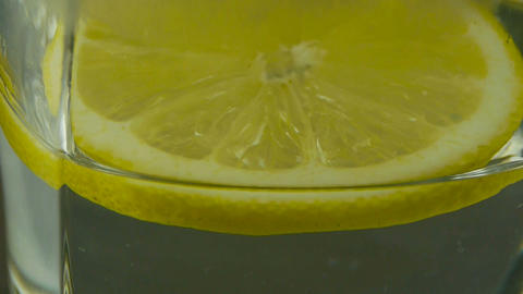 A cup of lemon tea Stock Video Footage