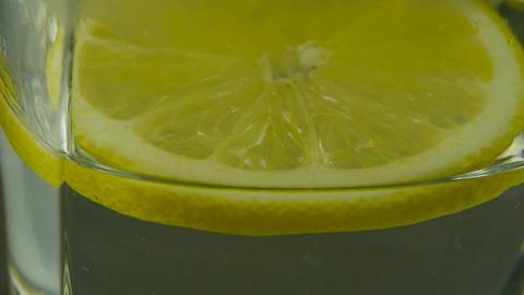 A cup of lemon tea Stock Video Footage