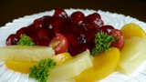 delicious fruit cake,cherry,tomato,pineapple Footage