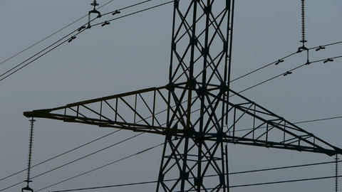 High-voltage wire tower Stock Video Footage