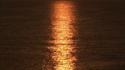 Sunrise over sea, tranquil landscape Live Action
