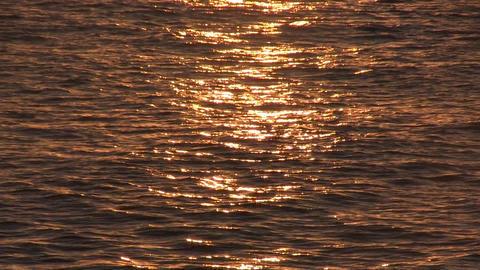 Sunrise over sea, tranquil landscape Stock Video Footage