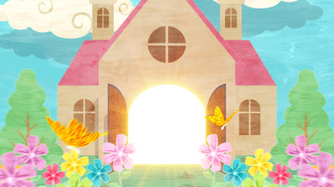 Popup Letter Church Animation