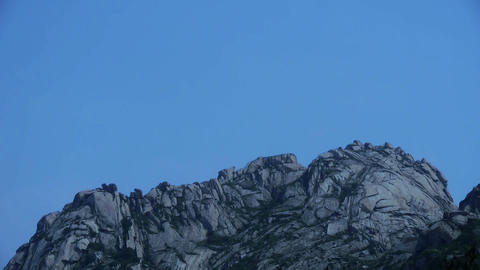 Panoramic of Mountain & hill,steep-rock,Cliff top of... Stock Video Footage