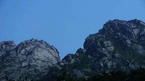 Panoramic of Mountain & hill,steep-rock,Cliff top of the hill Footage