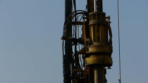drilling machinery Stock Video Footage