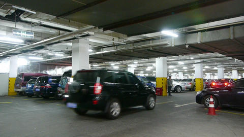 underground parking Stock Video Footage