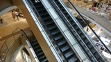 Escalator in Shopping mall Footage