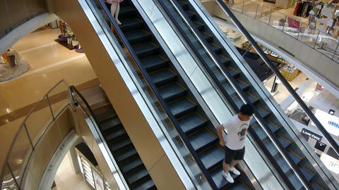 Escalator in Shopping mall Stock Video Footage