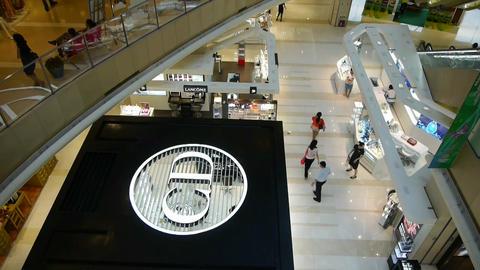 shopping malls scene,modern city environment Stock Video Footage