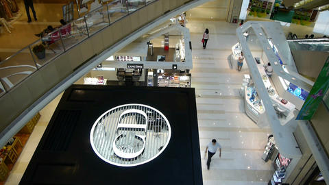 shopping malls scene,modern city environment Stock Video Footage