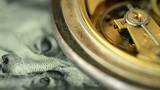 Dollar And The Old Pendulum Clock. Loopable stock footage
