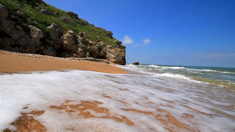 walk on the beach Stock Video Footage