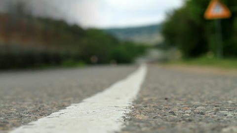 Timelapse movement of vehicles on the road Stock Video Footage