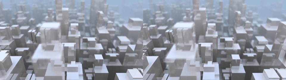 Glass City -Stereo 3D Stock Video Footage