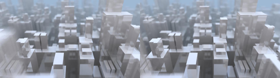 Glass City -Stereo 3D Animation