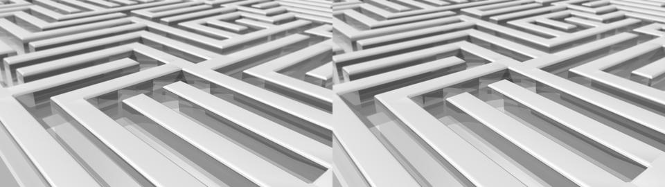Maze Background -Stereo 3D Stock Video Footage