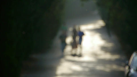 Nominal figure.Visitors walk under the shade of... Stock Video Footage