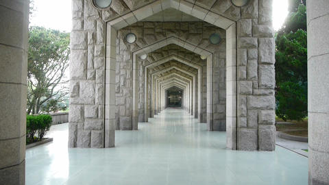 Ornate arches corridor Stock Video Footage
