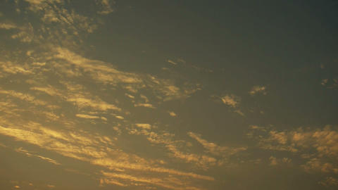 Panoramic of sunset clouds Stock Video Footage