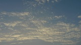 Panoramic of sunset clouds Footage