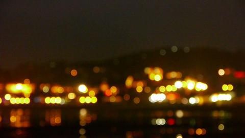 Shaking lighting at night Stock Video Footage